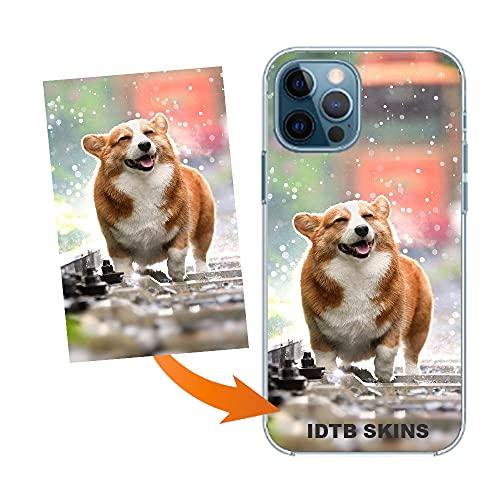 IDTB SKINS Funda Personalizada con tu Foto, Imagen impresión de Calidad fotográfica para, Apple-iPhone 12 / iPhone 12Pro, Acabado Brillante