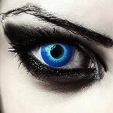 """Designlenses, Dos lentillas de color azul para Halloween duende disfraz lentes sin dioprtías/corregir + gratis caso de lente """"Blue Elfe'"""