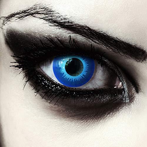Eis-blaue farbige Elfen Kontaktlinsen für Halloween Karneval Weißer Wanderer Kostüm, 2 Stück, Designlenses, Model: Blue Elfe