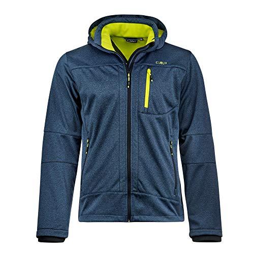 CMP Herren Softshell Jacket with ClimaProtect Technology Softshelljacke, Blue Cosmo Melange, 50