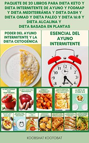 Paquete De 20 Libros Para Dieta Keto Y Dieta Intermitente De Ayuno...