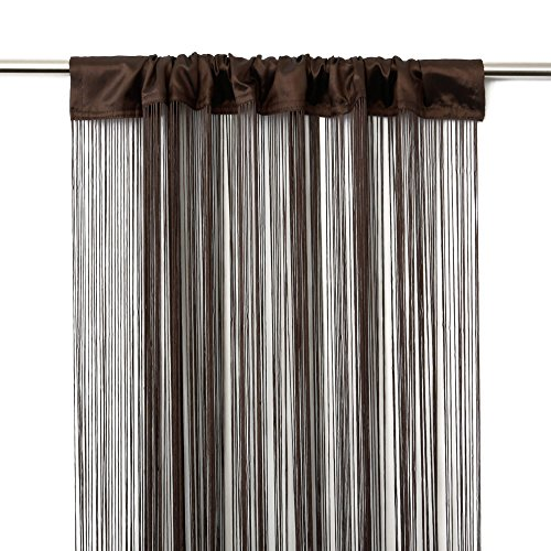 Victoria M Leonora Vorhang - Fadenvorhang 100 x 245cm, braun