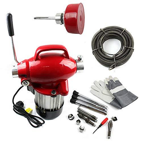 Rohrreinigungsmaschine,220VAbflussreinigungsmaschine 250W Ø20-100mm 400 U/M Rohrreinigungsgerät für Sewer Badewanne (250W)