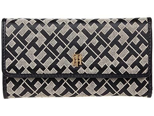 Tommy Hilfiger Serif Stud - Continental Geo Jacquard Wallet Black/Alpaca One Size