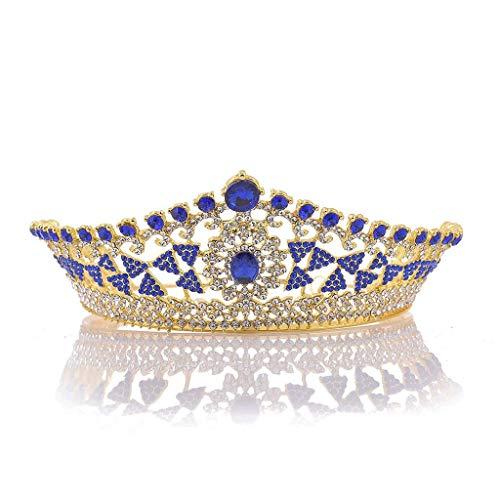 YWSZJ Mini Princesa Tiara cristalina del Peine del Pelo de la Corona de la Boda de la Corona de la Mujer for la Novia, Boda, Compromiso, Fiesta, cumpleaños (Color : E)