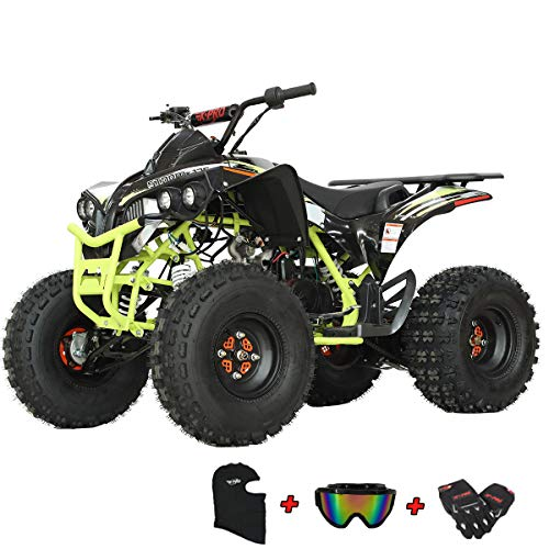 X-PRO Storm 125 125cc ATV Quad Adults ATV 4 Wheelers Youth 4 wheeler ATVs Big Boys ATVs Quads (Green)