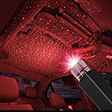 TrendOnline Auto Roof Star Projector Lights, USB Portable Adjustable Flexible Interior Car Night Lamp Decorations with Romantic Galaxy Atmosphere fit Car, Ceiling, Bedroom, Party and More