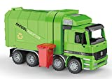 PowerTRC Friction Powered Garbage Truck   Includes Garbage Cans   Side Loading and Back Dumping