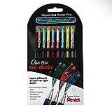 Hybrid Dual Metallic de Pentel - Caja de 8 Boligrafos Roller Gel de Colores brillantes para colorear y decorar con purpurina