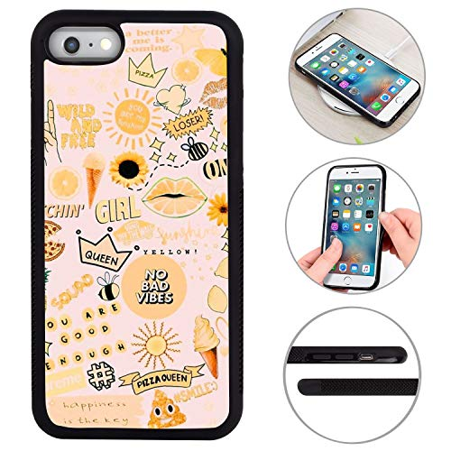 iPhone 6/6S Plus Protective Case Cover, Queen Pizza No Bad Pattern Hard PC and Soft TPU Tire Pattern Anti-Skid Shockproof Full Coverage Protection