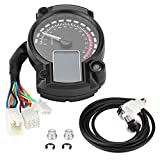 Motorcycle Speedometer, Universal Motorcycle Digital Colorful LCD Odometer Integrated Tachometer Speed Gauge Gear