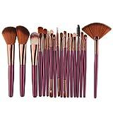 Womens New 18 Pcs Makeup Brush Set Tools Toiletry Kit Wool Make Up Brush Set Meyerlbama (S, Purple)