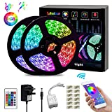 L8star LED Strips Lights, Color Changing Light Strip 10m/32.8ft SMD 5050 RGB Rope Lights with Bluetooth Controller Apply for TV, Bedroom, Party and Home Decoration (32.8ft)