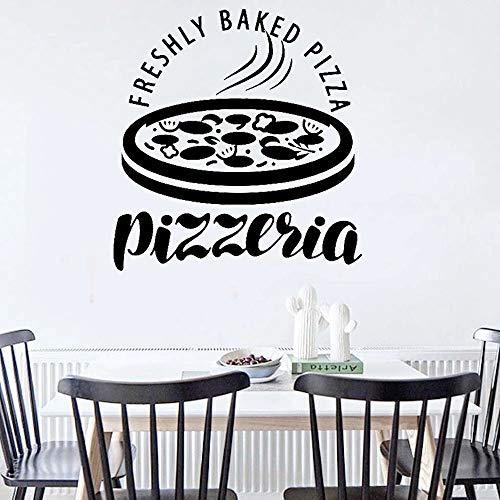 HGFDHG Pizzeria Cibo Italiano Ristorante Pizzeria Decorazione della Cucina Adesivo murale Adesivo murale per Interni in Vinile per la casa Carta da Parati