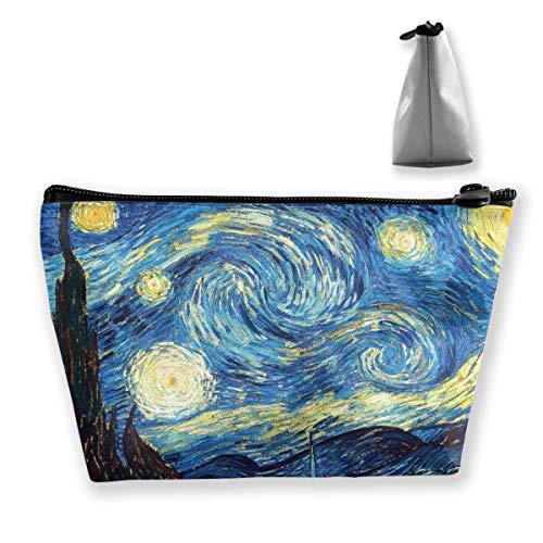 Van Gogh Starry Night Trapezoid Travel Cosmetic Storage Pouch Pochette
