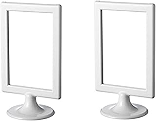 """Ikea Photo Frame Tolsby White 4 X 6"""" (2 Pack) Each Frame Holds 2 Pictures"""