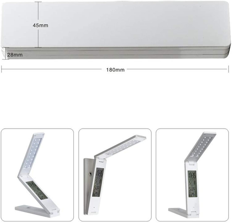 Zwy Led Schreibtischlampe Dimmbare Schützen Sehvermgen Faltbare Lesung Led Licht Tischlampe Touch Control Kalender Wecker Usb Lade Led Lampe