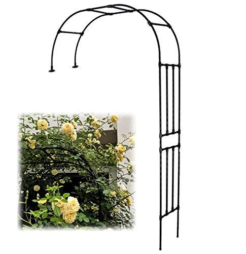 SYLJ Arco per Rampicanti Giardino Semicircolare, Arco da Giardino Semi-Laterale, Arco Giardino per Rose Metallo Alto 2,4 m, pergolato da Giardino, Resistente