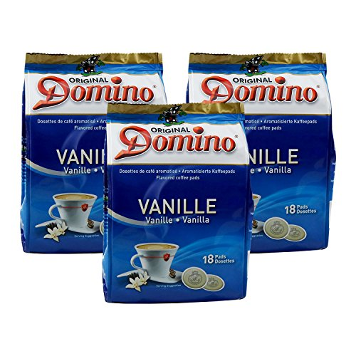 3 x DOMINO Kaffeepads Vanille 18 Pads