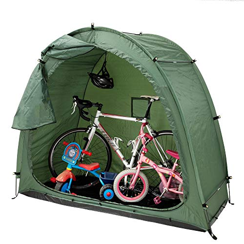 Foldable Outdoor Storage Shed Tent, Waterproof Bike Storage Shed with Rollup Door, Easy to Fold and Store - for Storing Bicycles, Motorcycles, Tools, Etc. 20080165cm