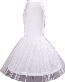 Diandiai Mermaid Petticoat For Mermaid Prom Gown Crinoline slips underskirt For Mermaid Wedding dress