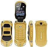 Teléfono móvil libre F15 Mini Flip con forma de coche deportivo, Dual SIM, MP3 y MP4, 6 colores