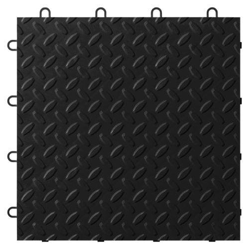 Gladiator GAFT24TTTB Black Floor Tile, 24-Pack