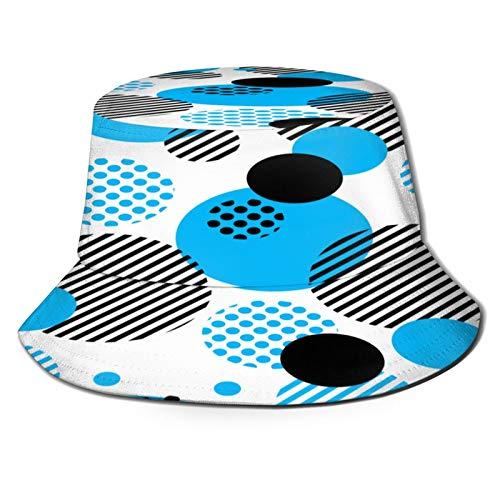 Sombrero Pescador Unisex,Patrón de pizza en estilo Doodle dibujado a mano Menú de pizzería Comida,Plegable Sombrero de Pesca Aire Libre Sombrero Bucket Hat para Excursionismo Cámping De Viaje