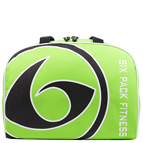 6 Pack Fitness Fox Bowler with Insulated Meal Management System, Lime/Black