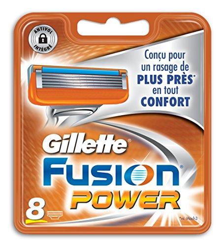 Gillette Fusion power - Recambios para cuchillas de afeitar (8 unidades)