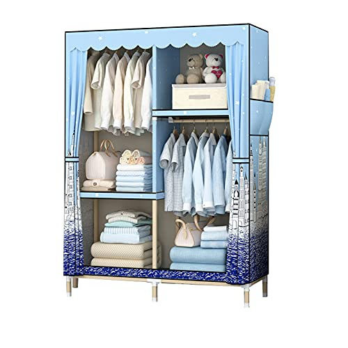 JIAO PAI Armario creativo, armario abierto de madera maciza para bebé, divisores para guardar espacio estable (color: I)