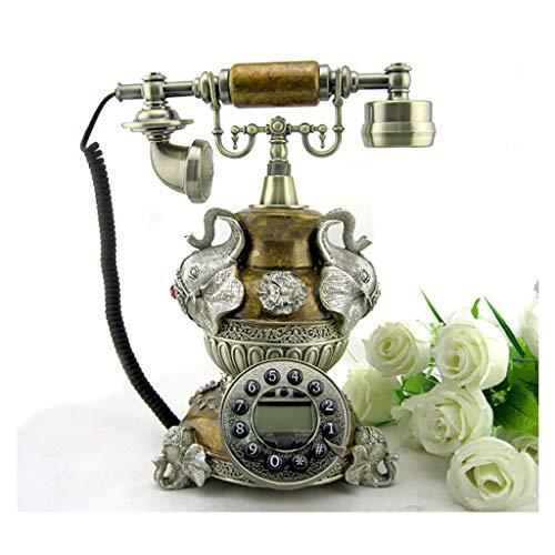 Royal Antique Vintage Teléfono Vintage Estilo Retro Antiguo Moda Teléfonos de Línea Liña Europea Identificación de Llamada Retro Mostrar Teléfono Teléfono Línea Línea para Inicio Oficina Estilo Europe