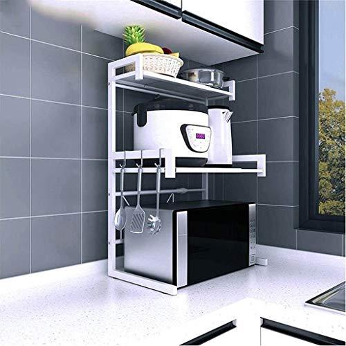 lcy Extensible mensola contatore Cime su da Forno a microonde, Cucina mensola Utility Stand mensole del Forno scaffale da Spice Kitchen Bagagli Regolabile Metallo