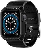 Spigen Rugged Armor Pro Compatible with Apple Watch Band with Case for 44mm Series 6/SE/5/4