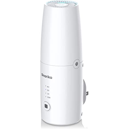 Plug In Air Purifiers for Home | UV Light Sanitation for Rooms | Ozone Deodorizer for Odor from Pets, Diapers, Room Freshener | Auto Mode 1h/2h/4h Timer