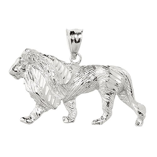 Men's 925 Sterling Silver Lion Necklace Pendant