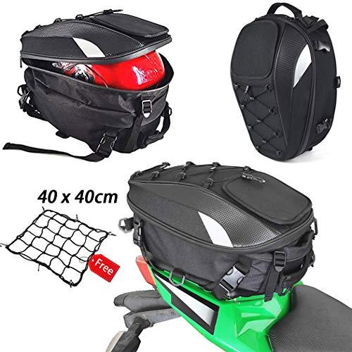 Bolsa de asiento para motocicleta, doble uso, impermeable, bolsa de almacenamiento para...