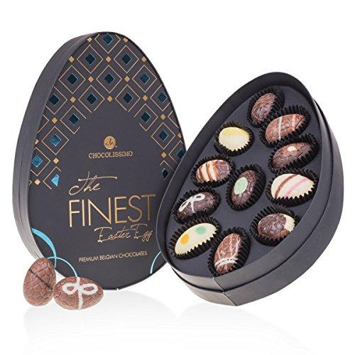 Mini The Finest Easter Egg Blue - 11 Schoko-Ostereier | in eleganter Verpackung | Ostergeschenk | Ostern Schokolade | Eier Schokolade | Ostergeschenk | Osterei | Ostern Schokolade |Osterei-Pralinen