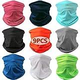 Landisun Headband Face Mask Bandanas Face Scarf Multifunctional Seamless Sports High Elastic Magic, Outdoor & Casual UV Protection (9PCS. Headband Solid Set 3, One Size)