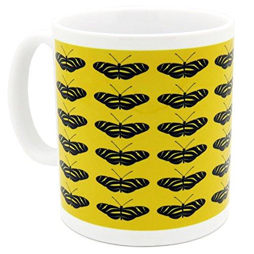Taza original para desayunos. Color amarillo