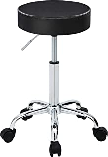 Duhome 410 Adjustable Height Swivel Medical Clinic Tattoo Spa Salon Stool with Wheels (Black)
