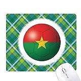ブルキナファソの国旗のワールドカップ 緑の格子のピクセルゴムのマウスパッド