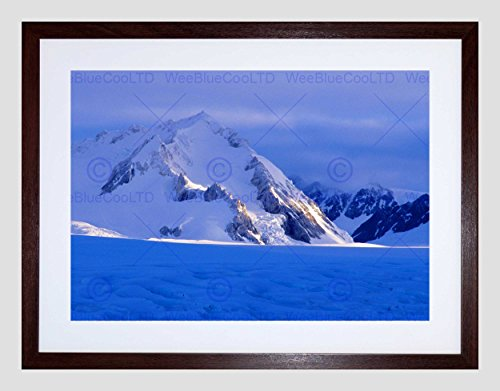 PHOTO MID HUBBARD GLACIER KLUANE NATIONAL PARK YUKON SNOW FRAMED PRINT B12X11021