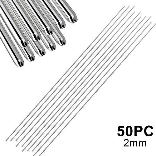 ieenay Soldadura Varillas para soldar Aluminio Barras de Soldadura de Aluminio fáciles de Baja Temperatura 5 10 20 50Pcs 1.6mm 2mm No Necesita Polvo de Soldadura,2mm-50PC