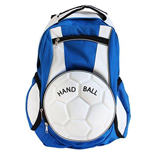 Diapolo Hand Ball Zaino Sport Tasche Tasche Multiple a Colori Composizione, Royalblau-Weiß
