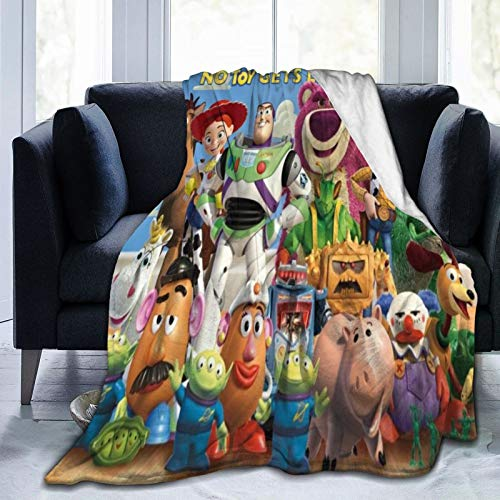 Toy Story Throw Fleece Blanket Sofa Couch Bed Non Shredding Travel All Seasons Gift Warm Super Soft Pompom 125x150cm
