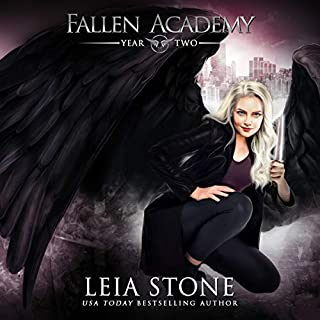 Fallen Academy: Year Two                   Written by:                                                                                                                                 Leia Stone                               Narrated by:                                                                                                                                 Vanessa Moyen                      Length: 5 hrs and 47 mins     10 ratings     Overall 4.8