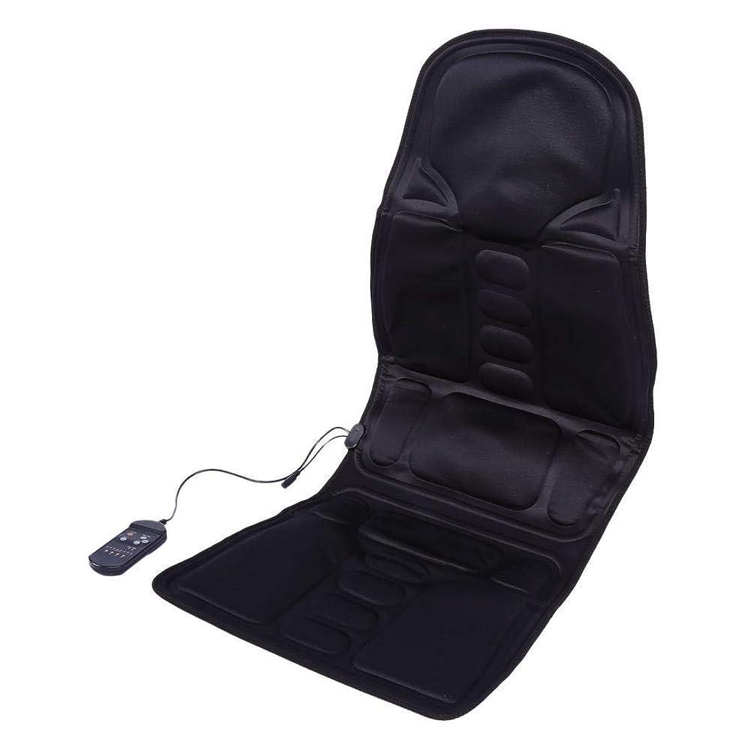 鼓舞するかすれた小麦マッサージチェアパッド 折りたたみ式マッサージチェアパッド、首、肩、背中の痛みを和らげ、7つの振動モーターと腰用暖房パッド バックマッサージャー