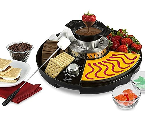 KOVOT 3-in-1 Treat Maker S'mores/Fondue & Gummies Station With BONUS 6-Inch Gummy Bear Mold
