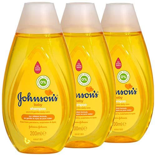 Johnson's Baby Shampoo 200ml - pure & sanfte Pflege - 3 Stück pro Pack